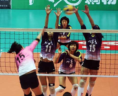 08-09赛季全国女排联赛A组第九轮:四川3比0胜河北