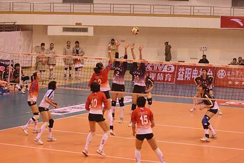 08-09赛季全国女排联赛A组第14轮:八一3比1胜辽宁
