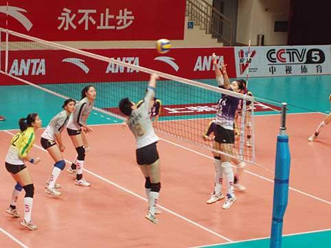 08-09赛季全国女排联赛A组第16轮:上海3比0胜四川