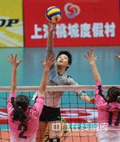 女排联赛上海苦战五局险胜天津总决赛1比0暂领先