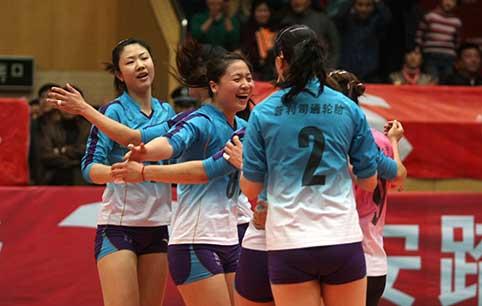 08-09赛季全国女排联赛决赛第3场:天津3比1胜上海