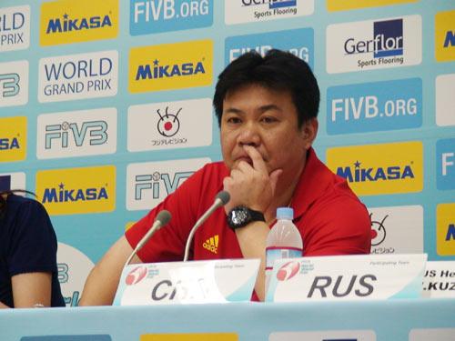 蔡斌:女排三连败受困体能对阵日本关键战如何打