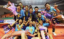 上海男排击败八一连续第七次问鼎联赛八冠王诞生