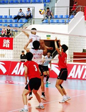 全国男排大奖赛宿豫赛区3、4名决赛四川3比1胜山东