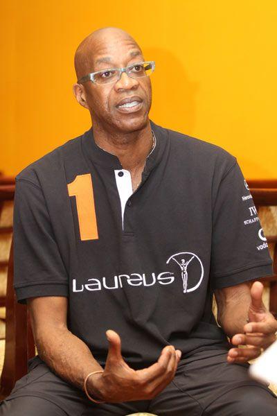 劳伦斯世界体育学会主席埃德温-摩西。