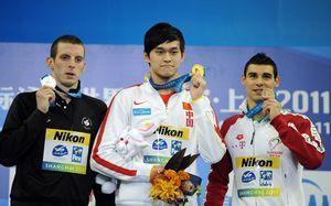 世游赛1500米自由泳孙杨打破世界纪录加冕双冠王