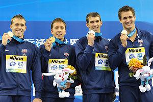 世锦赛中国泳军15金收官排第二罗切特5冠菲鱼4金