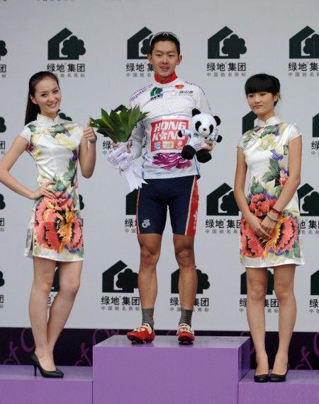 香港选手郭灏霆穿上代表大中华地区最佳的白衫。