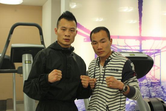 徐琰(左)和教练康恩
