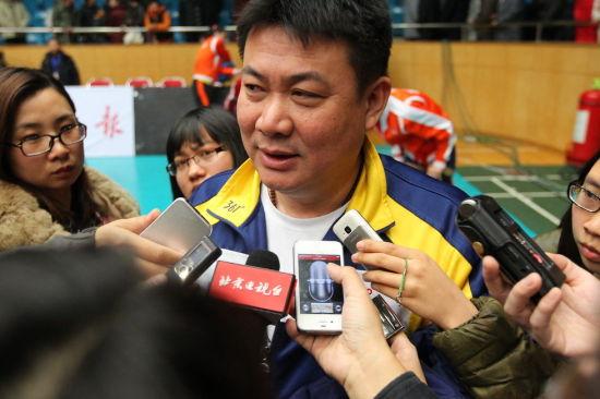 蔡斌接受采访