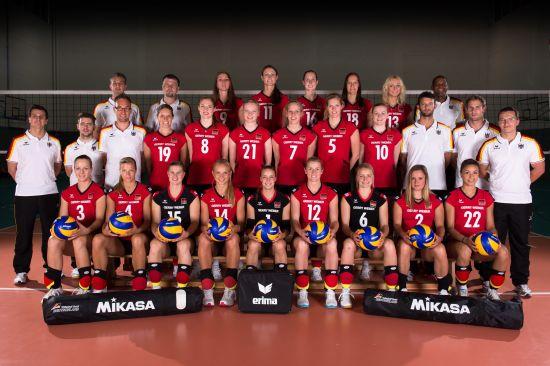德国女排全家福(图片来源:FIVB网站)