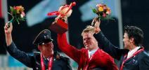 图文-奥运马术测试赛德国选手获三项冠军 前三名