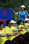 图文-奥运舵手总决赛第二集 评委观察每位选手