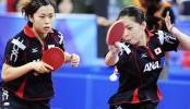 图文-乒联总决赛女双1/4决赛 日本组合完败出局