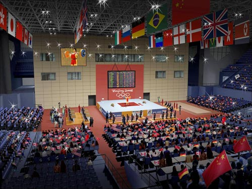 图文-北航体育馆奥运改造竣工 馆内效果图