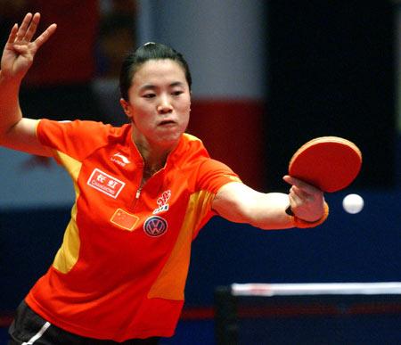 图文-世界乒球总冠军赛王楠女单夺冠反手是她绝招
