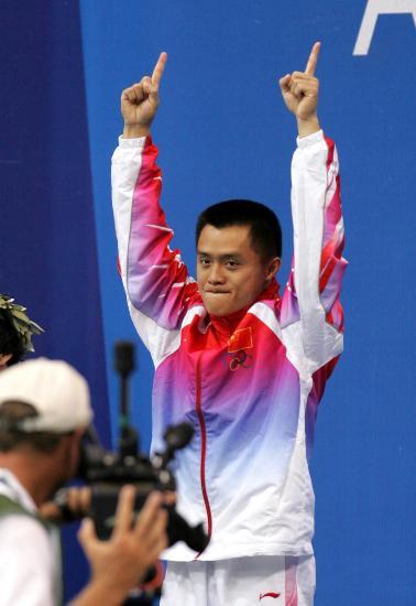 图文-中国历届夏季奥运会金牌得主 彭勃三米板夺冠