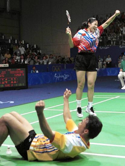 图文-中国历届夏季奥运会金牌得主 羽球混双首金