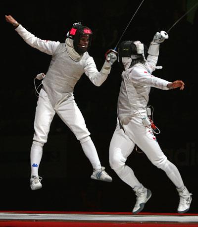 图文-男花大奖赛法国站 巴尔迪尼半决赛淘汰崔秉哲