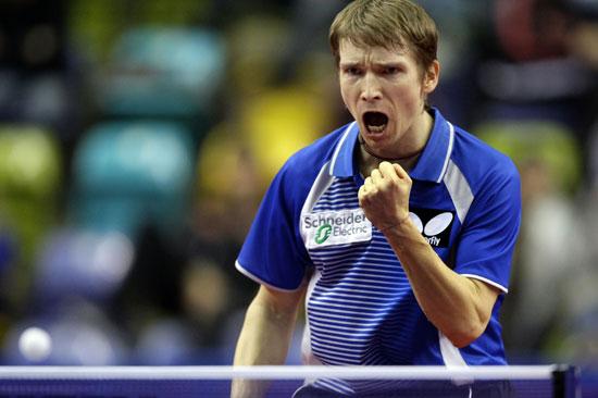 图文-欧洲12强乒乓球赛 施拉格回勇力挫老萨夺冠