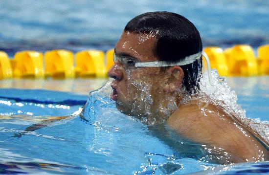 图文-奥运游泳测试赛5日赛况 水下猛兽切赫