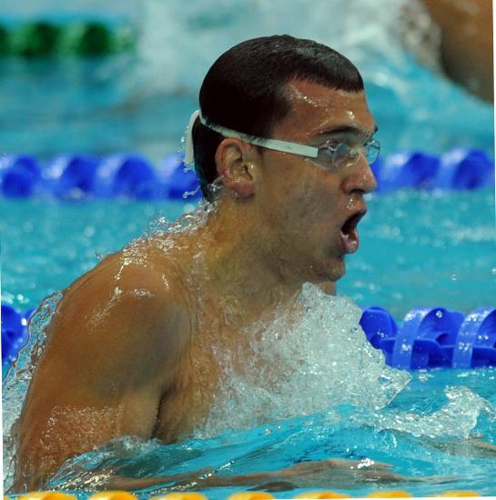 图文-奥运游泳测试赛5日赛况 不带泳帽就能夺冠