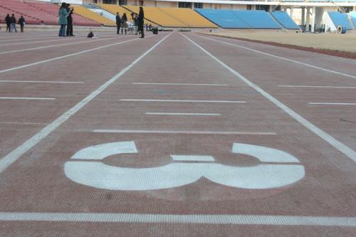 图文-北京工人体育场改建工程完工 场内塑胶跑道