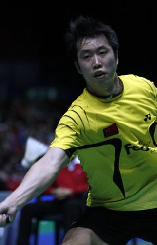 图文-全英羽球赛陈郁淘汰李炫一陈郁状态出众