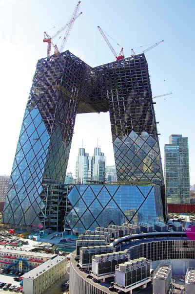 图文-北京建筑的新地标--奥运之光央视新大厦