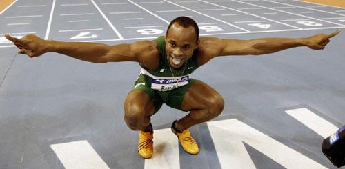图文-田径室内世锦赛男子60米决赛法苏巴大鹏展翅