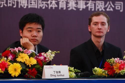 图文-众星闪耀斯诺克中国公开赛小晖与卫冕冠军多特