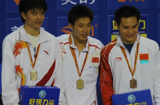 图文-全国跳水冠军赛罗玉通夺冠男子3米板三甲