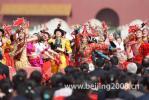 图文-天安门奥运圣火欢迎仪式 优美的民族舞蹈表演