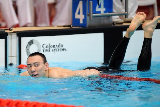 图文-全国游泳冠军赛5日赛况 陈祚轻松惬意玩耍