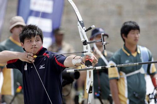 男子-v男子世界杯手臂复合弓团体中国台北队选教练图文武术图片