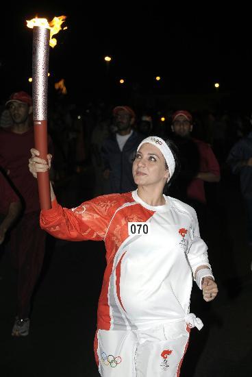 图文-圣火传递活动在马斯喀特举行 珍惜眼前机会