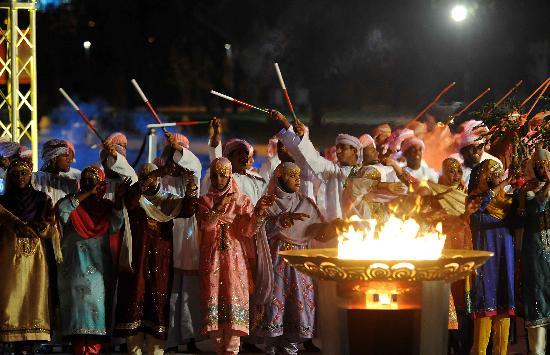 图文-圣火传递活动在马斯喀特举行 城市庆典现场