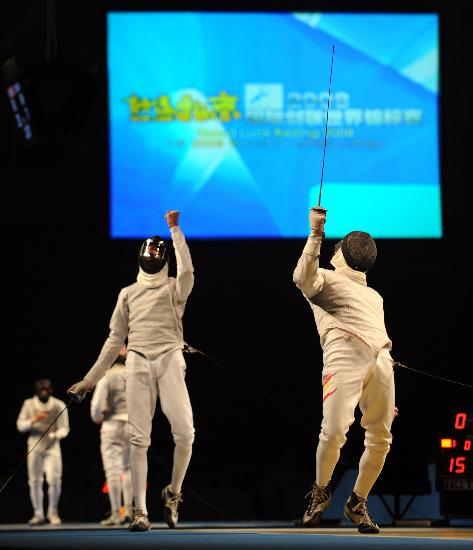 图文-击剑世锦赛男子花剑团体赛  比赛中精彩瞬间