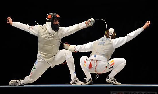 图文-意大利队获男子花剑团体冠军 他们都很高难度