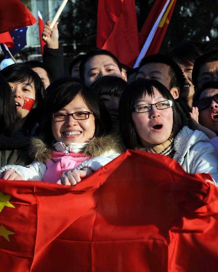 图文-北京奥运圣火在堪培拉传递 红色耀眼夺目