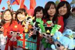 图文-北京奥运圣火在堪培拉传递 华人华侨加油