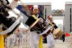 图文-北京奥运圣火在首尔传递 欢快的文艺表演