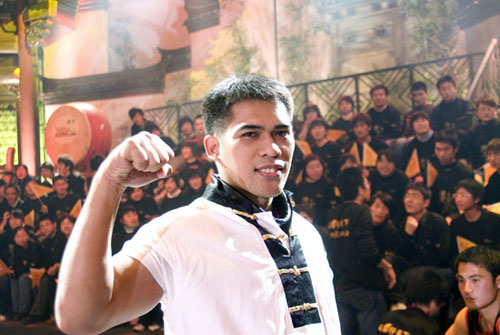 图文-五祖拳全国总决赛第二周伊格杜凯迷人微笑
