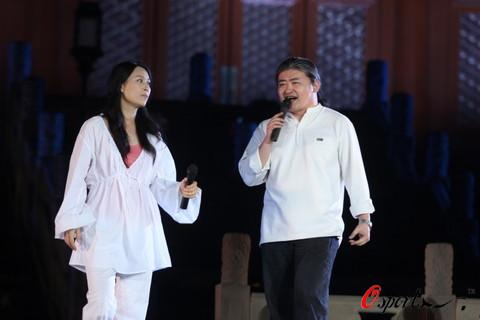 图文-奥运倒计时一百天活动彩排 刘欢与那英同台