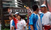 图文-北京奥运会圣火在香港传递 叶�逞泳偈质疽�