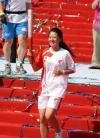 图文-北京奥运圣火三亚起跑仪式 杨扬跑下红毯