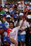 图文-北京奥运圣火在三亚传递 聚焦大杨扬传递
