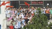 图文-2008年奥运会火炬在海口传递 快来加入我们吧