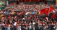 图文-北京奥运圣火在深圳传递 熙熙攘攘的人群