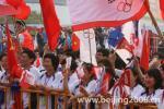 图文-北京奥运圣火在苏州传递 现场观众热情高涨